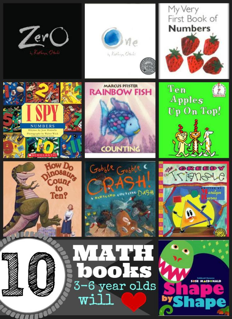 10 Math Books 3-6 Year Olds Will Love - Tipsaholic