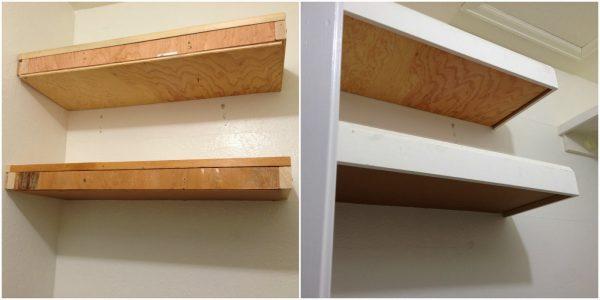 trim floating shelves for master closet, My Love 2 Create on Remodelaholic