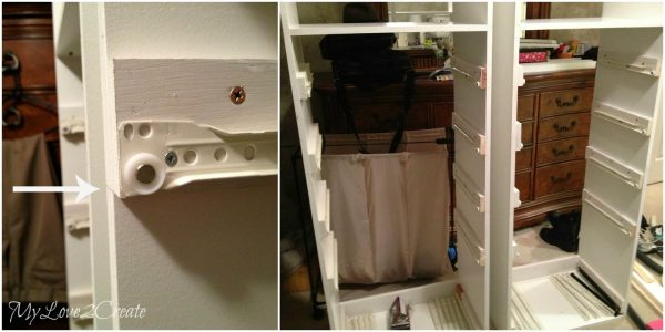 up close drawer slide in master closet, My Love 2 Create on Remodelaholic