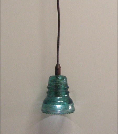 upcycled insulator pendant light
