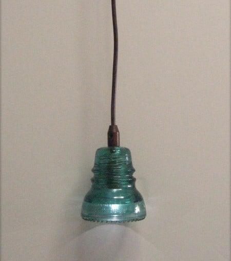 upcycled insulator pendant light