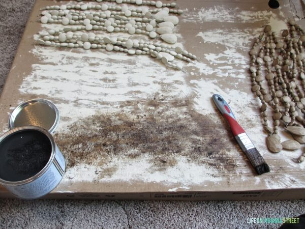 use dark wax for faux wood beads chandelier, Life on Virginia Street on Remodelaholic
