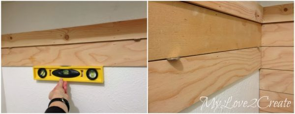 use nickels to space plank wall in master closet, My Love 2 Create on Remodelaholic
