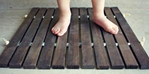 wood stake door mat tutorial