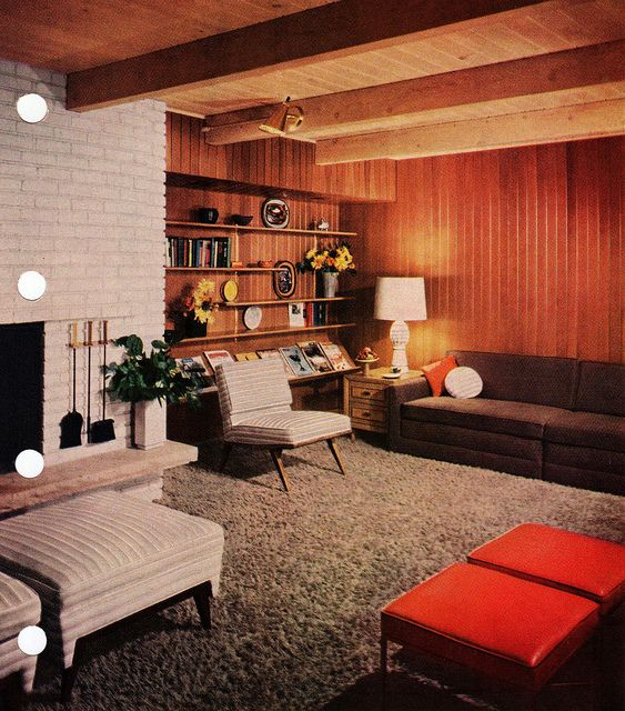 Mid Century Modern living room by tikitacky on Flickr