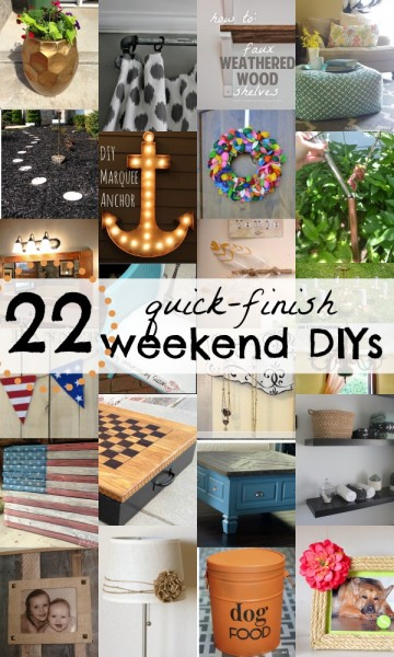22 DIY Projects You Can Start and Finish This Weekend via Remodelaholic