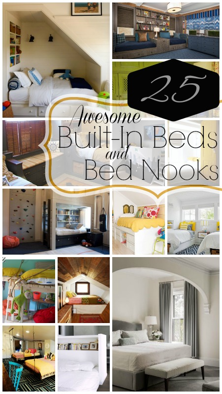 25 Awesome Built-In Beds and Bed Nooks | @Remodelaholic #bed #bedroom ...