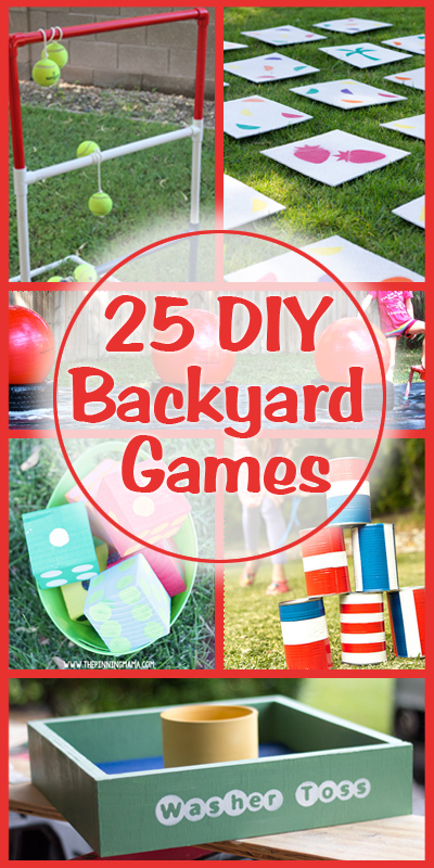 25 diy backyard games on summer fun play