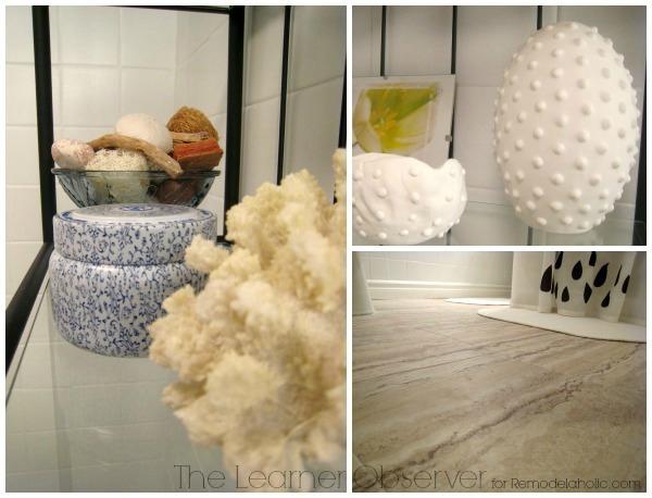Basement washroom makeover details by The Learner Observer for Remodelaholic.com