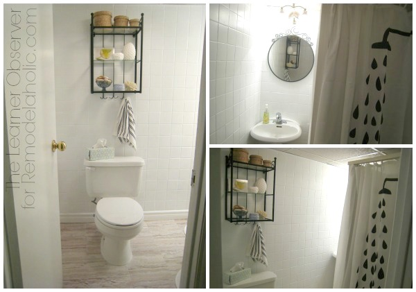 Bathroom Makeovers Tile remodelaholic | a $170 bathroom makeover with painted tile