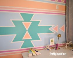 Center-Portion-of-Pastel-Painted-Southwestern-Inspired-Feature-Wall-1024x682