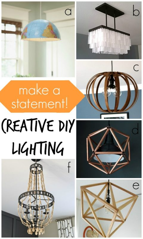 Creative DIY Lighting via Remodelaholic.com