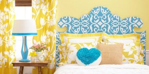 Curvaceous headboard pattern on Remodelaholic