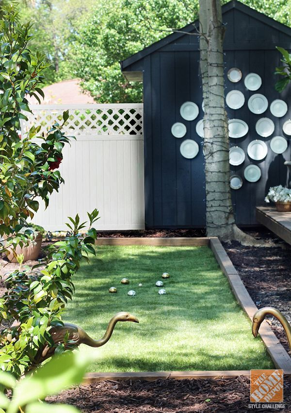 Backyard Bocce Ball Court Design : Bocce Ball Court  The Hunted Interior via The Apron Blog
