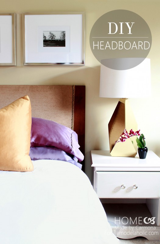 How To Turn A Door Into A Stylish Headboard @Remodelaholic #headboard #diy #headboardweek