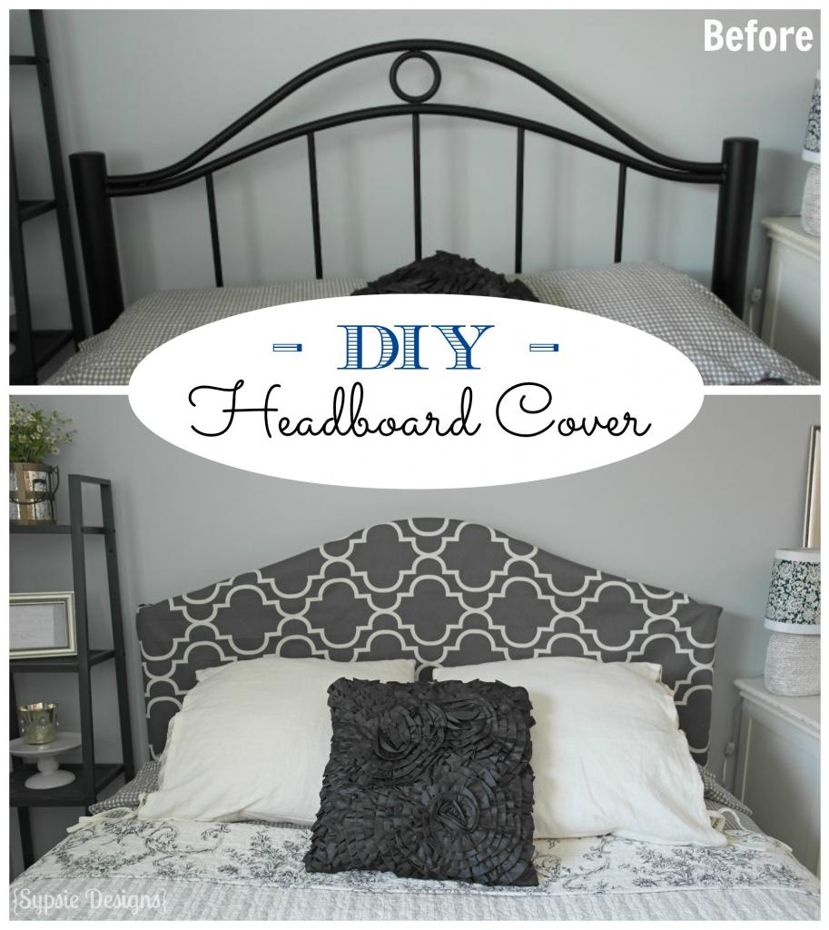 Luxury No Sew Metal Headboard Slipcover Sypsie Designs on Remodelaholic headboardweek