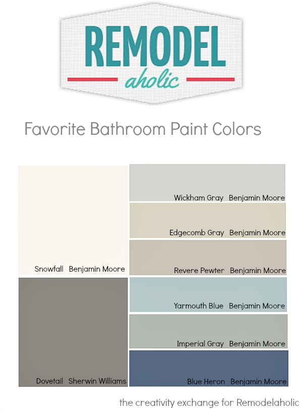 Remodelaholic tips and tricks for choosing bathroom Paint color tips