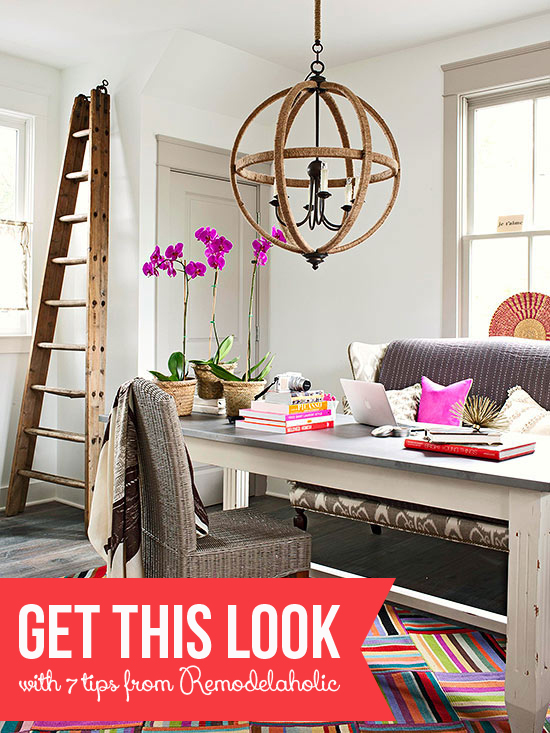 Get This Look - Bold Study-Home Office on Remodelaholic.com