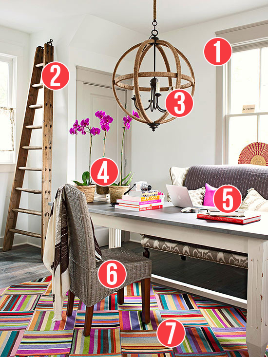 Get This Look - Tips for Designing a Bold Study-Home Office from Remodelaholic.com