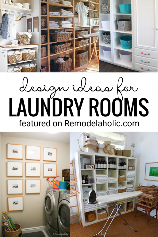 Great Laundry Room Ideas And Details And More Featured On Remodelaholic.com