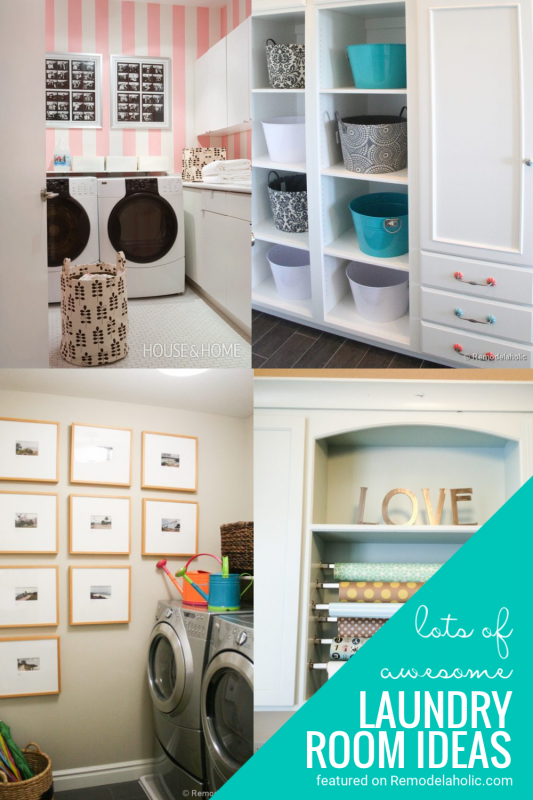 Great Laundry Room Ideas And Details Featured On Remodelaholic.com