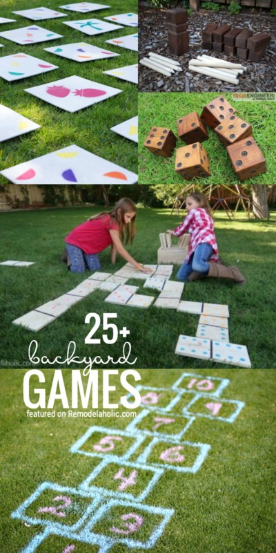 Head Out Back! It's Time To Play One Of Our Favorite 25+ Backyard Games Featured On Remodelaholic.com