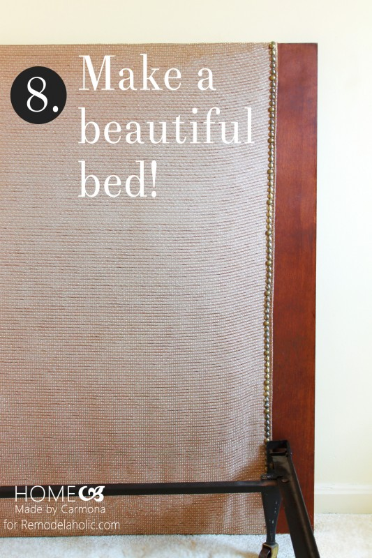 Headboard -Make Bed- Remodelaholic.com