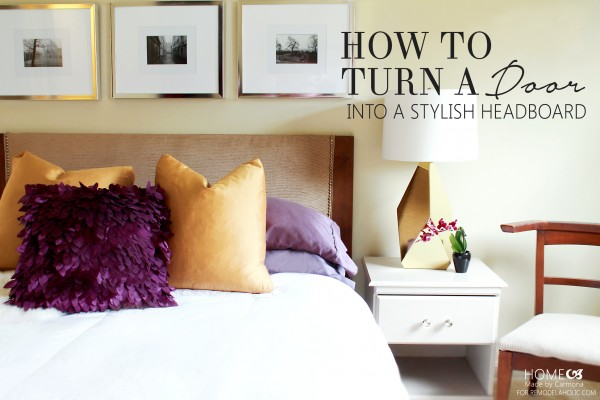 Headboard Tutorial on Remodelaholic.com