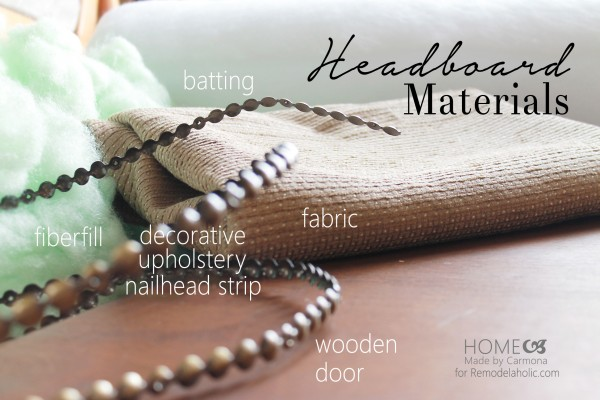 Headboard materials - for Remodelaholic.com