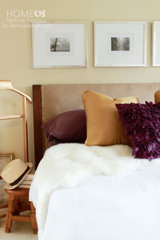 How To Turn A Door Into A Stylish Headboard @Remodelaholic #headboard #diy