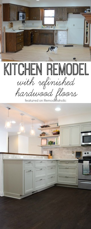 Kitchen Remodel with Refinished Hardwood Floors, Ramblings from the Burbs on Remodelaholic