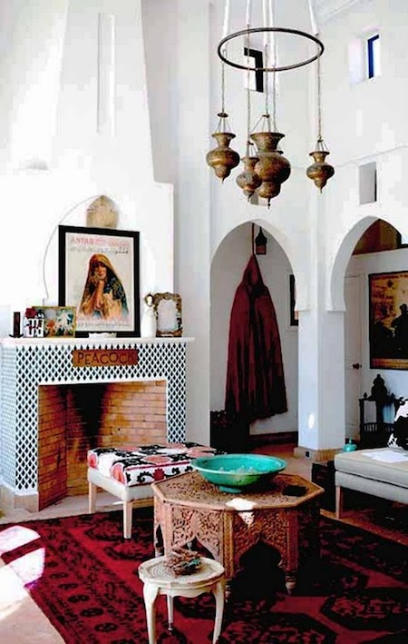 Moroccan style living area