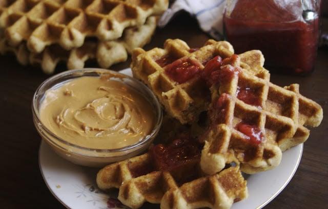 PB and J Waffles