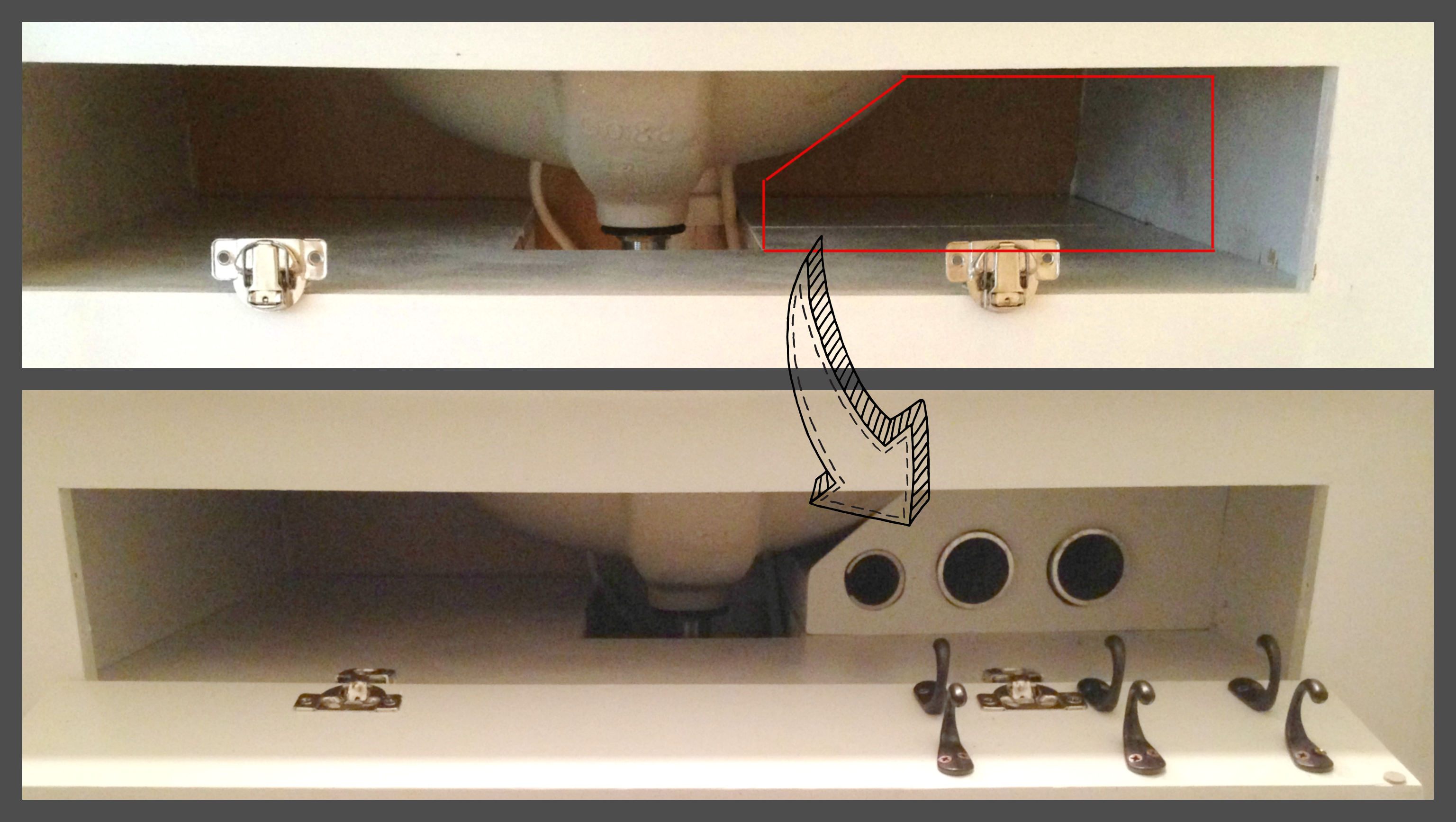 Diy under bathroom sink storage - Diy Hair Care Storage Remodelaholic Com