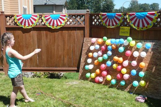 balloon darts outdoor game