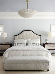 calm gray and white bedroom thumb