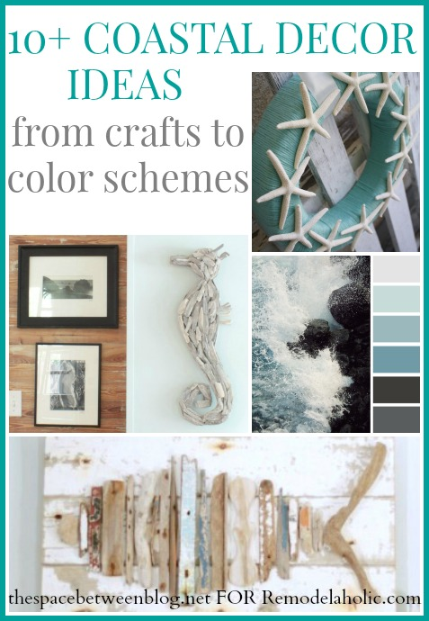 coastal decor ideas from thespacebetweenblog.net as seen on Remodelaholic.com