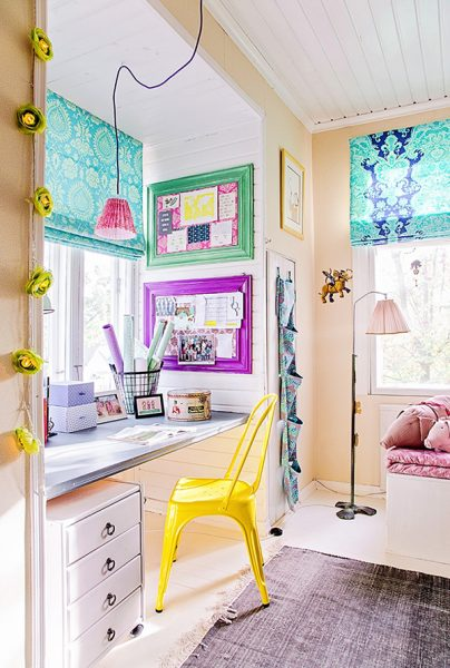 colorful study area