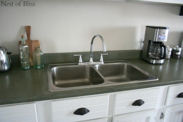 diy faux granite countertops, Nest of Bliss on Remodelaholic