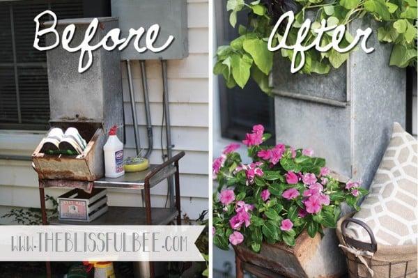 diy upcycled vintage planter