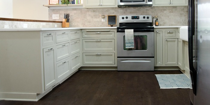 feature kitchen with refinished wood floor, Ramblings from the Burbs on Remodelaholic