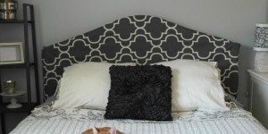 feature metal headboard makeover with fabric cover, Sypsie Designs on Remodelaholic