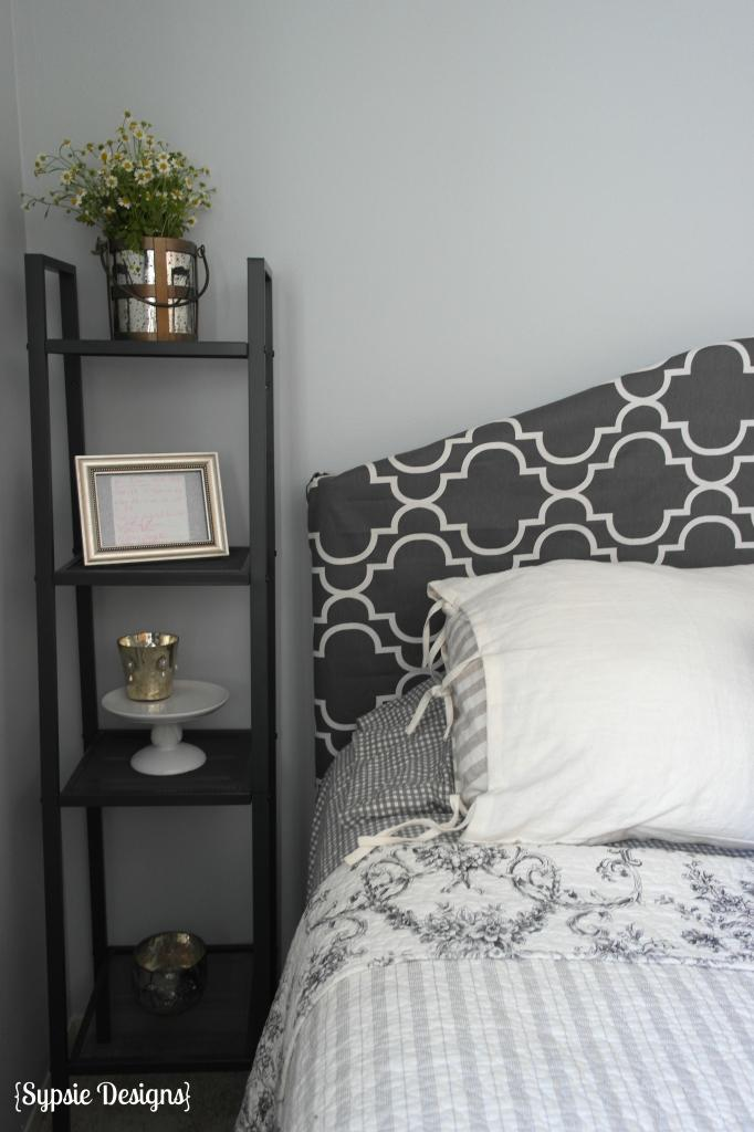 How To Cover A Metal Headboard With Fabric Slipcover Sypsie Designs On Remodelaholic