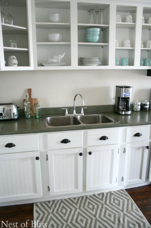 how to create faux granite countertops using spray paint, Nest of Bliss on Remodelaholic