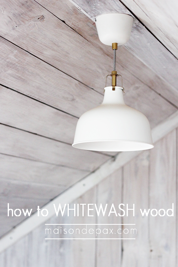 How To Whitewash Wood For A Plank Wall Maison De Pax On Remodelaholic