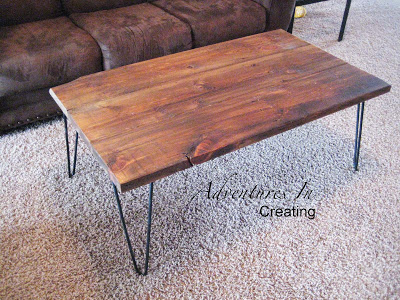mid-century modern hairpin coffee table