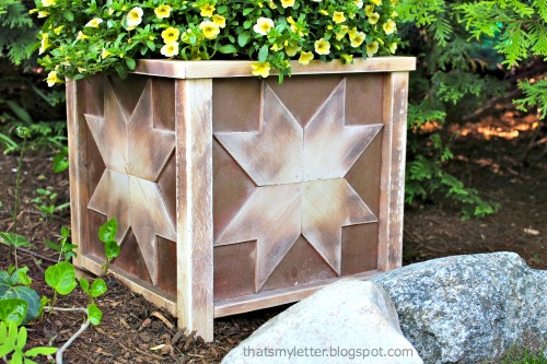 outdoor star planter