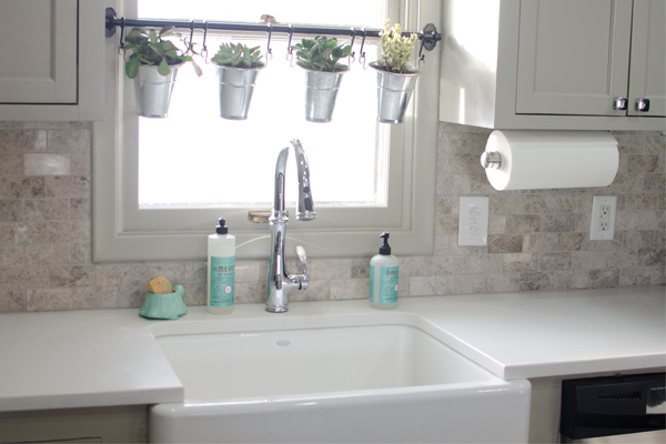 above kitchen sink decor remodelaholic remodeled kitchen with refinished hardwood 3965
