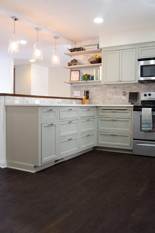 Remodelaholic Remodeled Kitchen With Refinished Hardwood Floors