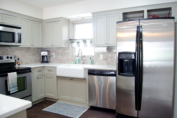 Remodeled Kitchen remodelaholic | remodeled kitchen with refinished hardwood floors